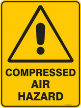 Warning  Sign - COMPRESSED AIR HAZARD