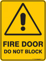 Warning  Sign - FIRE DOOR DO NOT BLOCK