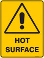 Warning  Sign - HOT SURFACE