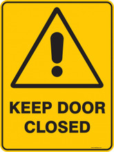 Warning  Sign - KEEP DOOR CLOSED