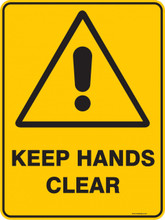 Warning  Sign - KEEP HANDS CLEAR