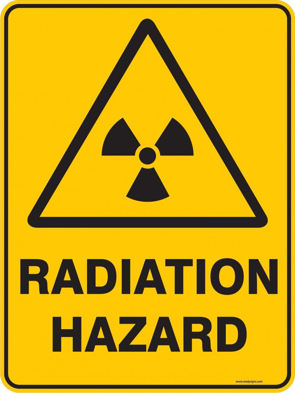 Warning Sign - RADIATION HAZARD - Ready Signs