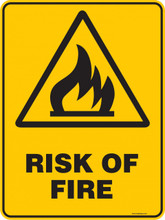 Warning  Sign - RISK OF FIRE