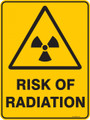 Warning  Sign - RISK OF RADIATION