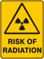 Warning  Sign - RISK OF RADIATION