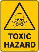 warning sign toxic hazard property signs
