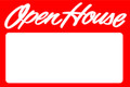 Open House Sign/ Red - Blank
