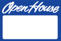 Open House Sign Blue - Blank
