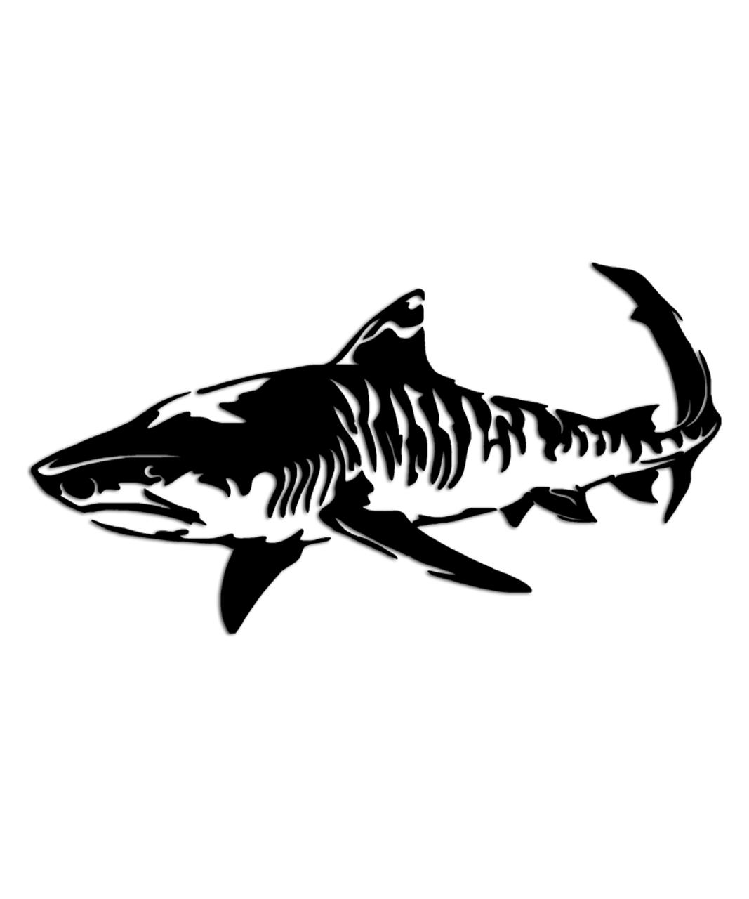 Tiger Shark Sticker Aftershock Decals