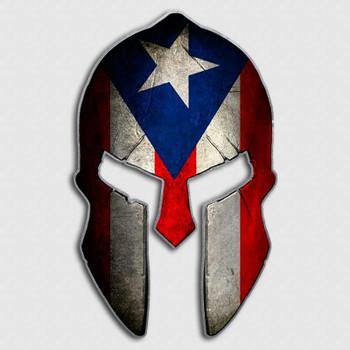Puerto Rico Spartan Helmet Decal El Boricua Sticker