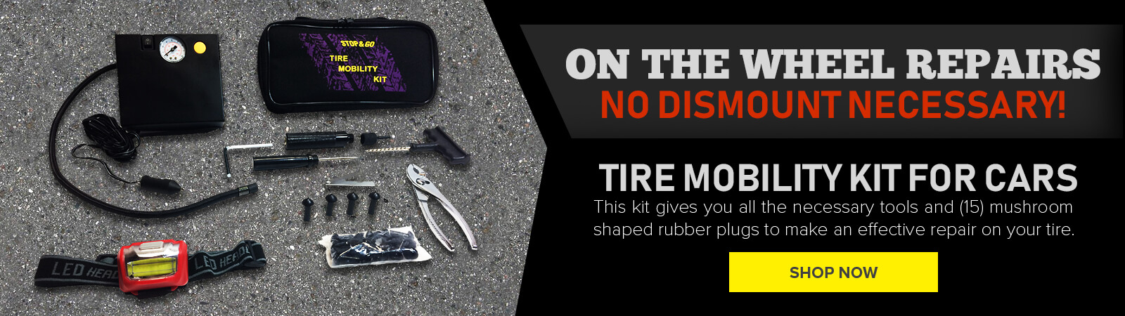 tire mobility kit - stop & go