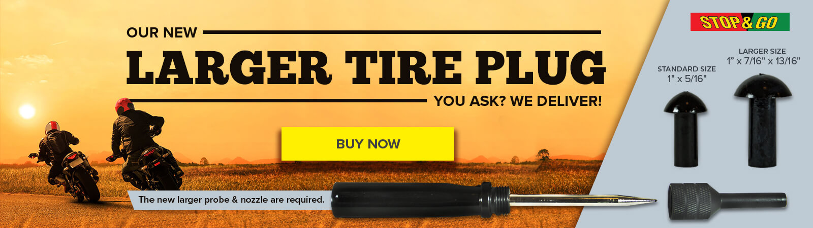 Larger Tire Plug