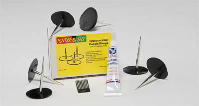 tire repair kit - tubeless plugs rubber cement