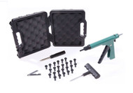 The Deluxe Tire Plugger comes in a hard sided case for durability and long lasting convenience.  Virtually Indestructible!