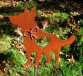 German Shepherd Dog Metal Garden Stake - Metal Yard Art - Metal Garden Art - Pet Memorial 3