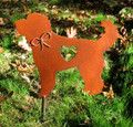Goldendoodle Labradoodle Dog Metal Garden Stake - Metal Yard Art - Metal Garden Art - Pet Memorial