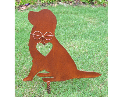 Golden Retriever Dog Metal Garden Stake - Metal Yard Art - Metal Garden Art - Pet Memorial 2