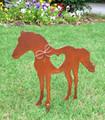 Horse Metal Garden Stake - Horse Memorial - Metal Yard Art - Metal Garden Art - Rustic - Rusty