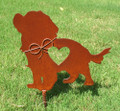 Cavalier King Charles Spaniel Dog Metal Garden Stake - Metal Yard Art - Metal Garden Art - Pet Memorial