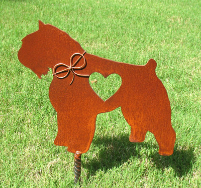 Bouvier Des Flandres Dog Metal Garden Stake - Metal Yard Art - Metal Garden Art - Pet Memorial