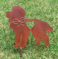 Poodle Dog Metal Garden Stake - Metal Yard Art - Metal Garden Art - Pet Memorial 2