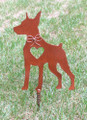 Doberman Pinscher Dog Metal Garden Stake - Metal Yard Art - Metal Garden Art - Pet Memorial 2