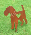 Airedale Terrier Dog Metal Garden Stake - Metal Yard Art - Metal Garden Art - Pet Memorial