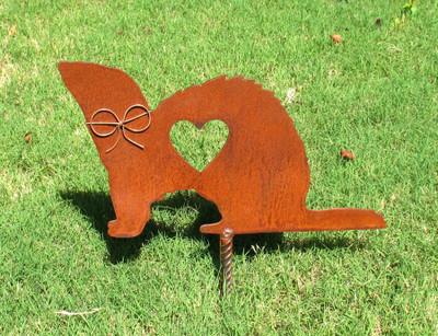 Ferret Memorial Metal Garden Stake - Metal Yard Art - Metal Garden Art - Pet Memorial