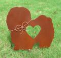 Long Haired Lhasa Apso Dog Metal Garden Stake - Metal Yard Art - Metal Garden Art - Pet Memorial