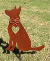 German Shepherd Dog Metal Garden Stake - Metal Yard Art - Metal Garden Art - Pet Memorial 4