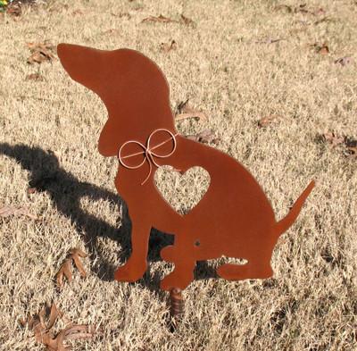 Dachshund Dog Metal Garden Stake - Metal Yard Art - Metal Garden Art - Pet Memorial 2