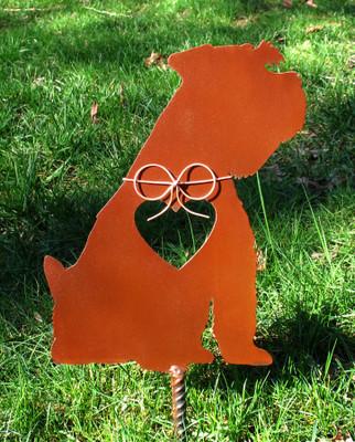 Schnauzer Dog Metal Garden Stake - Metal Yard Art - Metal Garden Art - Pet Memorial 2
