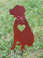 Brittany Spaniel Metal Garden Stake - Metal Yard Art - Metal Garden Art - Pet Memorial - Design 2