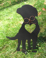 Painted Labrador Retriever Dog Metal Garden Stake - Metal Yard Art - Metal Garden Art - Pet Memorial - 1