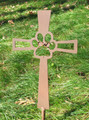 Painted Pet Memorial Cross Metal Garden Stake - Metal Yard Art - Metal Garden Art - Metal Cross - 2
