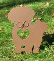Painted Shih Tzu Dog Metal Garden Stake - Metal Yard Art - Metal Garden Art - Pet Memorial - 1
