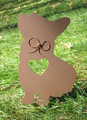Painted Corgi Dog Metal Garden Stake - Metal Yard Art - Metal Garden Art - Pet Memorial - 1