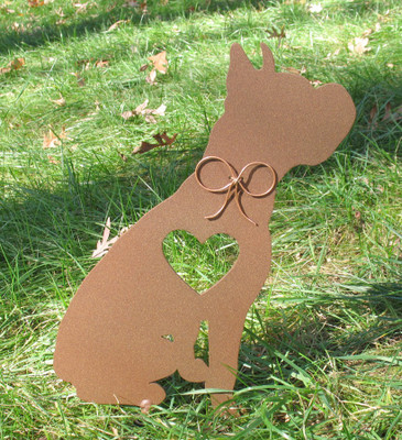 Painted Boxer Dog Metal Garden Stake - Metal Yard Art - Metal Garden Art - Pet Memorial - 2
