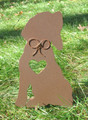 Painted Beagle Dog Metal Garden Stake - Metal Yard Art - Metal Garden Art - Pet Memorial - 1