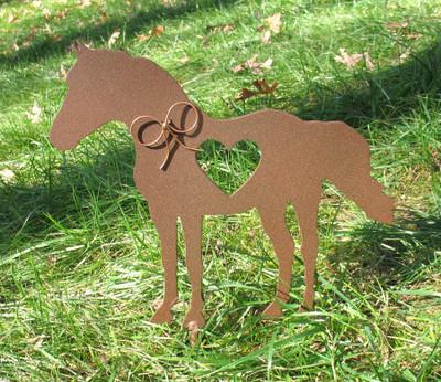 Painted Horse Metal Garden Stake - Metal Yard Art - Metal Garden Art - Pet Memorial - 1