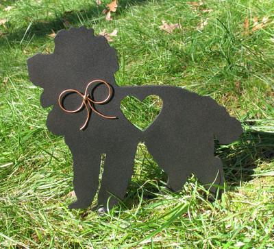 Painted Poodle Dog Metal Garden Stake - Metal Yard Art - Metal Garden Art - Pet Memorial - 2