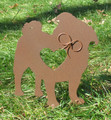 Painted Pug Dog Metal Garden Stake - Metal Yard Art - Metal Garden Art - Pet Memorial - 2