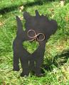 Painted Cairn Terrier Dog Metal Garden Stake - Metal Yard Art - Metal Garden Art - Pet Memorial - 1
