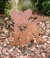 Papillon Dog Metal Garden Stake - Metal Yard Art - Metal Garden Art - Pet Memorial