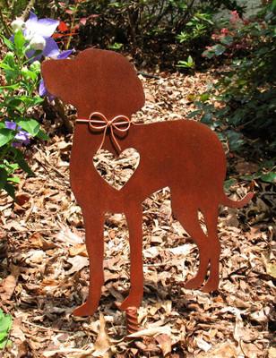 Weimaraner 2 Dog Metal Garden Stake - Metal Yard Art - Metal Garden Art - Pet Memorial