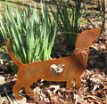 Dachshund Dog Metal Garden Stake - Metal Yard Art - Metal Garden Art - Pet Memorial