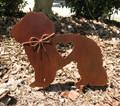 Maltese Dog Metal Garden Stake - Metal Yard Art - Metal Garden Art - Pet Memorial