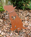 Bull Terrier Dog Metal Garden Stake - Metal Yard Art - Metal Garden Art - Pet Memorial