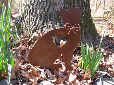 Cat Metal Garden Stake - Metal Yard Art - Metal Garden Art - Pet Memorial