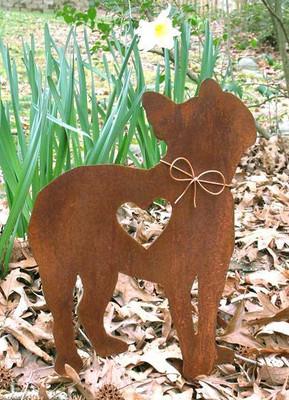 Boston Terrier Dog Metal Garden Stake - Metal Yard Art - Metal Garden Art - Pet Memorial